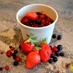Porridge de Chia et fruits rouges